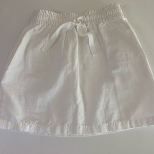 JCrew White Mini Skirt